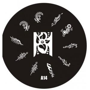 Пластина для стемпинг маникюра А14 (Корея)