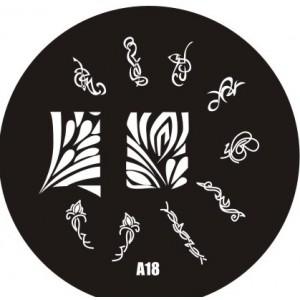 Пластина для стемпинг маникюра А18 (Корея)