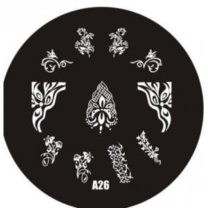 Пластина для стемпинг маникюра А26 (Корея)