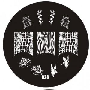 Пластина для стемпинг маникюра А28 (Корея)