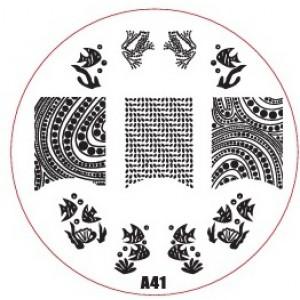 Пластина для стемпинг маникюра А41 (Корея)