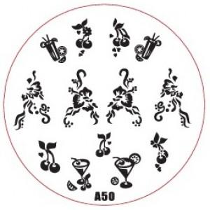 Пластина для стемпинг маникюра А50 (Корея)