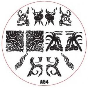 Пластина для стемпинг маникюра А54 (Корея)