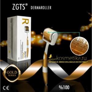 Мезороллер ZGTS - 210 титановых игл покрытых позолотой