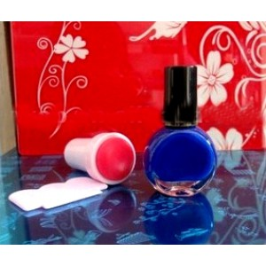 Лак (краска)  для стемпинг маникюра, цвет синий, 7мл (Корея)