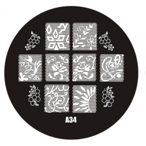 Пластина для стемпинг маникюра А34 (Корея)
