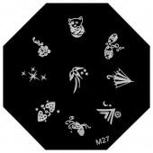 Пластина для стемпинг маникюра М27 (Корея)