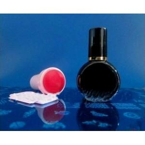 Лак (краска)  для стемпинг маникюра, цвет черный, 7мл (Корея)